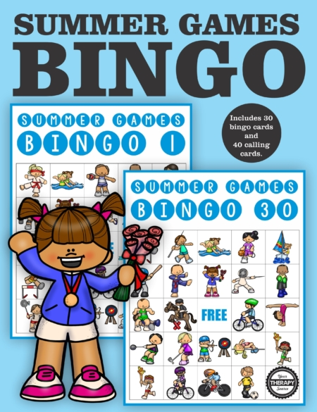 Summer Games Bingo Classroom Set - includes 30 different bingo boards