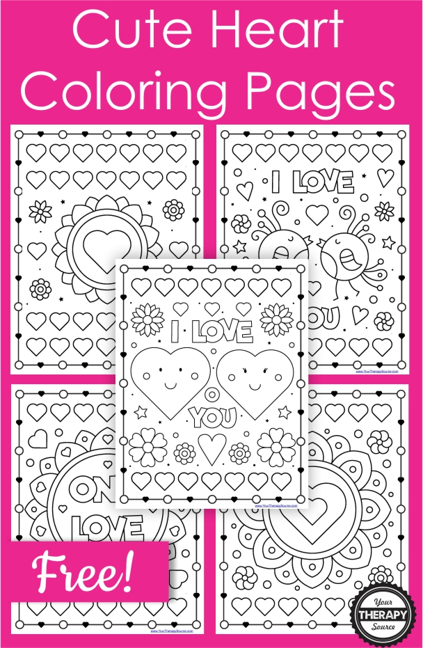 Cute Heart Coloring Pages 5 Free Printables Your Therapy Source
