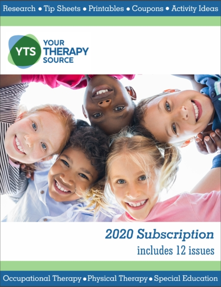 Therapists can stay updated on research, simplify their day, and help children succeed with the 2020 Subscription to Your Therapy Source Digital Magazine. It will provide monthly, easy to use resources, to educate yourself and others on fine motor, gross motor, visual perceptual, self-regulation, handwriting, and more!