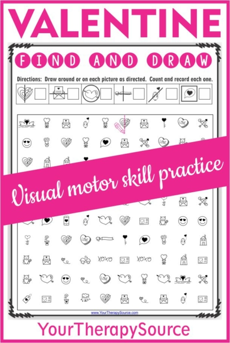 Looking for a new way to practice visual motor skills? This Valentine Visual Motor Packet includes 10 activities to practice visual discrimination and visual motor skills.