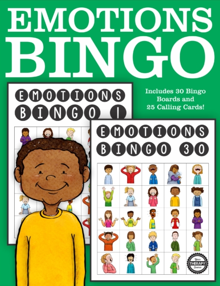 This Emotions Bingo PDF classroom set includes 25 calling cards and 30 Bingo boards in color. Help children identify and recognize different emotions.