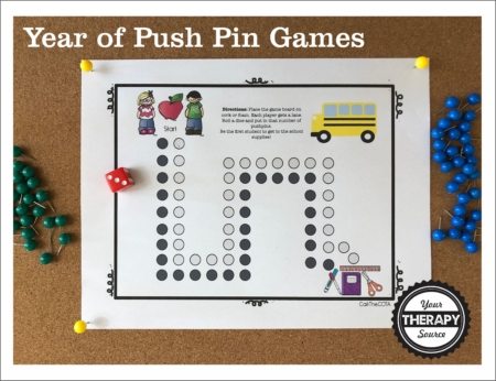 Montessori pin poking is a popular activity to increase focus, concentration, and fine motor skills in children. This Year of Push Pin Games transforms the fun of pin poking into games and adds turn taking.