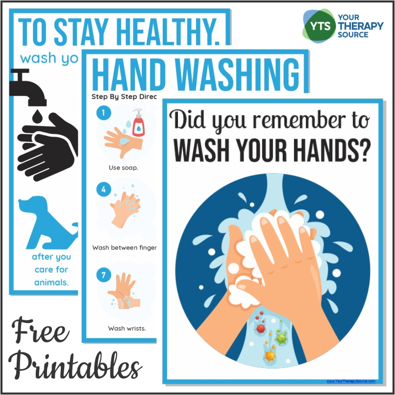 Hand Washing Posters For Schools Free Printables Your Therapy