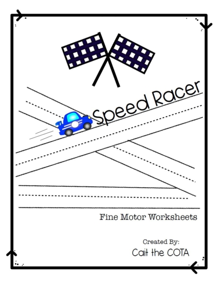 This is a set of Car Racing Fine Motor Activities that are dedicated to improving pre-writing and pencil control skills with a fun, race car theme created by Cait Bowen, COTA.