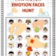 The Fine Motor Emotions Hunt digital download includes NO PREP, full color worksheets to practice fine motor skills, visual discrimination skills, visual tracking skills, and recognizing emotions.