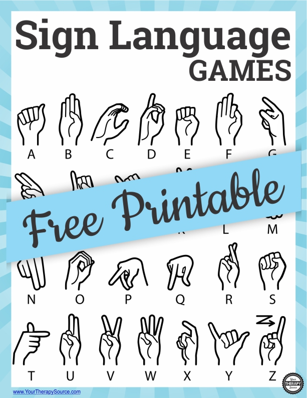 Have you ever played sign language games to practice finger isolation? It can be a fun way to mix up other classic games using sign language.  You can download a FREE printable at the end of the post to use a visual support for sign language.