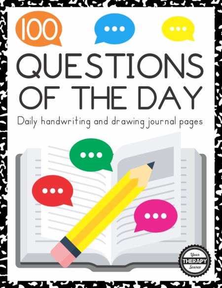 These handwriting prompts provide 100 questions of the day to answer throughout the year.  Students will read and answer questions and draw a picture for engaging daily prompts.