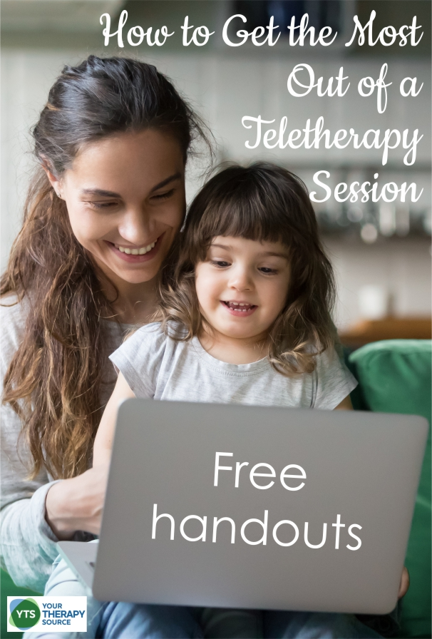 The world of teletherapy is very new right now to many occupational and physical therapists. With so many schools closed and social distancing in place, pediatric therapists are working hard to learn a new delivery system. This FREE two page handout of teletherapy tips can help parents to learn how to get the most out of a session.