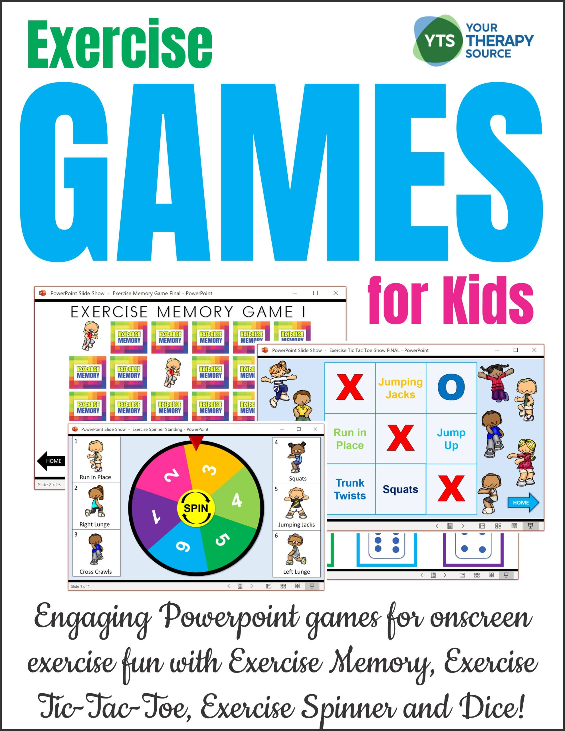 Exercise Games For Kids Distance Learning Your Therapy Source