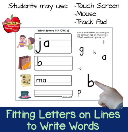 these distance learning handwriting skills activities will allow you to give instruction and also allow your students to practice fun and engaging interactive tasks without extra materials or paper.