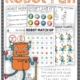 The Robot Activities, Puzzles and Games digital download includes 25 games, activities and puzzles to encourage playtime, visual perceptual skills, fine motor skills, and physical activity all with a robot theme! Perfect for any robot loving child!