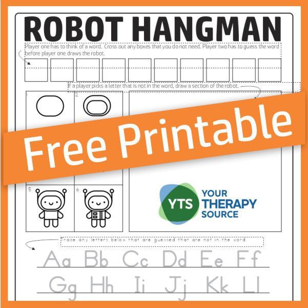 Robot Hangman Game for Kids
