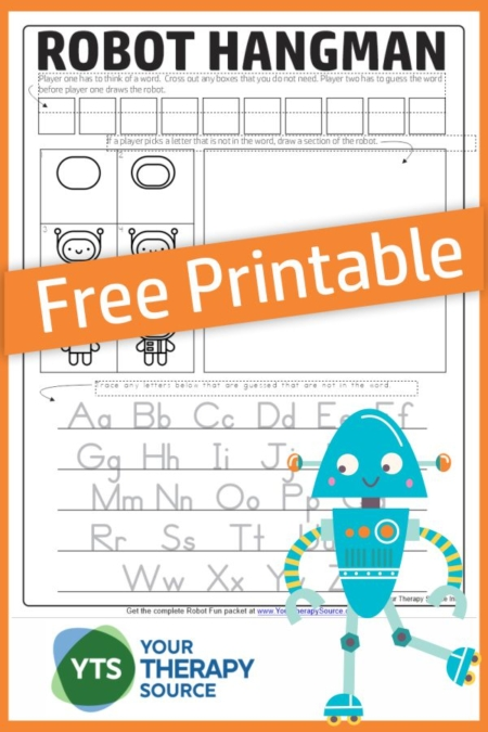 Want to play a fun game of Robot Hangman?  This easy game to play combines the traditional game of hangman with learning how to draw a cute robot.