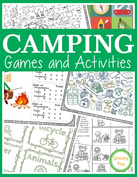 Camping Games for Kids packetincludes 25 fun puzzles, mazes and games to play while on a camping trip, classroom camping theme or anytime!