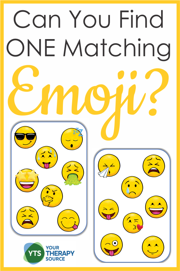 Do you love to play fast paced visual games?  This Match the Emoji free puzzle challenges you to find the ONE matching emoji as quickly as you can.