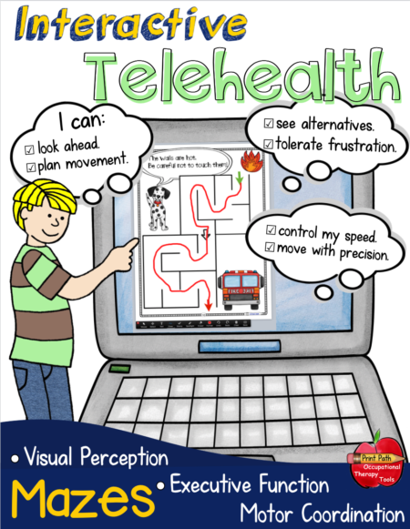 This collection of Interactive Mazes is perfect for distance learning or printed to provide more practice!  Created by school-based Occupational Therapist, Thia Triggs, the mazes will help your students build perceptual, motor, and cognitive reasoning skills.