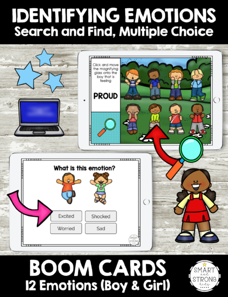 The Boom Cards Identifying Emotions  includes fun and interactive practice to name and identify emotions.