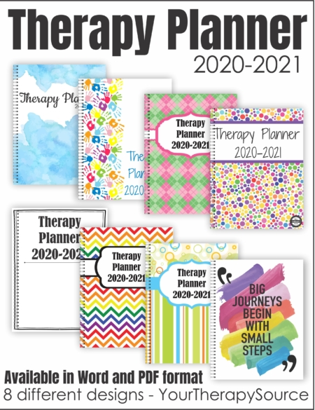 The School-Based Therapy Planner 2020-2021 digital download includes the materials to create a Therapy Planner to help you stay organized throughout the year.