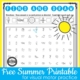 Free summer worksheet for visual motor skills