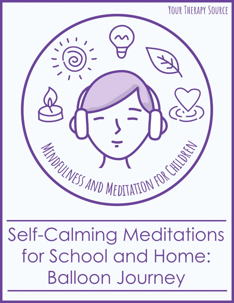 These 5 minute meditations for kids include deep breathing techniques taking the children on an adventure flying through the sky with a balloon to self- calm.