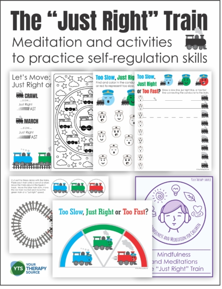 "This Self-Regulation Activity with a Train theme includes a meditation and printable activities to help children learn to get their body into a ""just right"" state ready for learning."