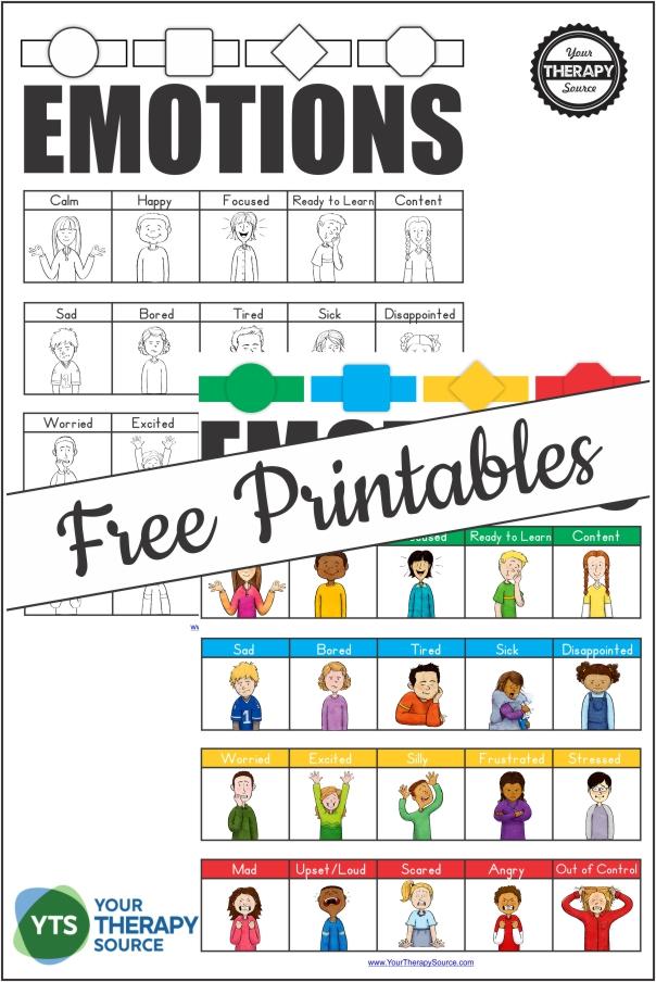 Emotional Regulation free printables for emotional self regulation