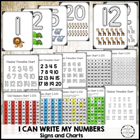 This HUGE I Can Write My Numbers PDF workbook, includes 178 pages of writing numbers worksheets 1-20 to help your students succeed.