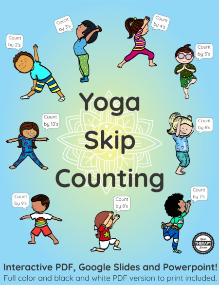 Skip counting is an important skill for students to learn to practice math facts. Add movement to your skip counting with this interactive Yoga Skip Counting brain break