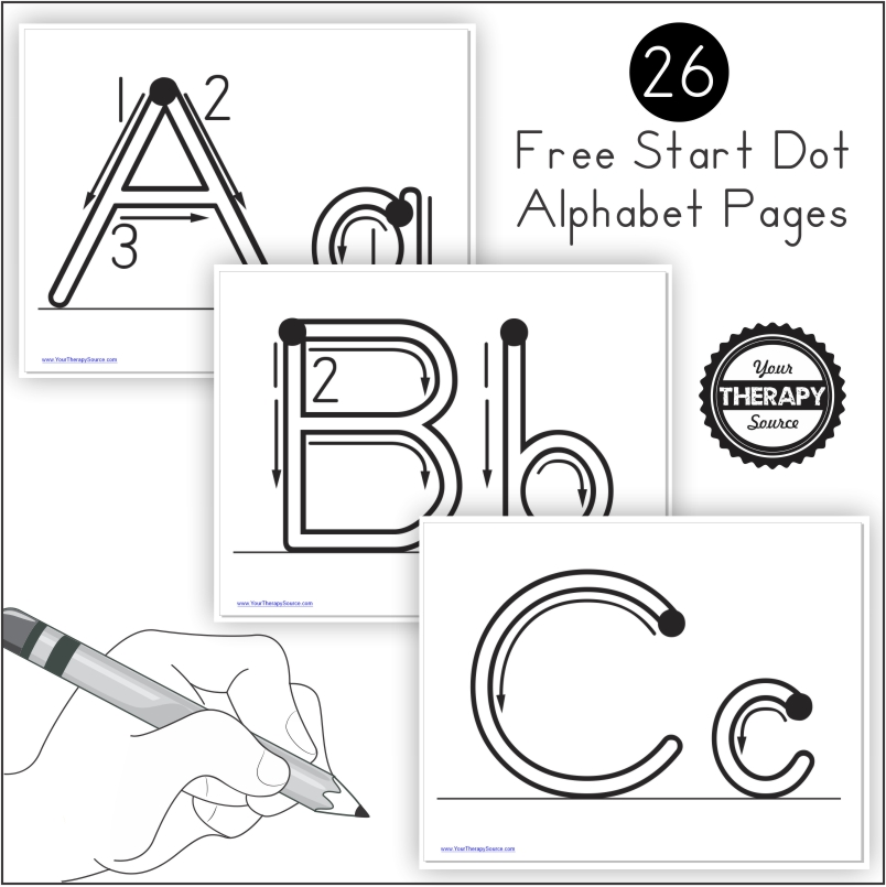 Wow! This is a huge alphabet handwriting practice PDF freebie with start dots and arrows that you can use to help your students practice proper letter formation.