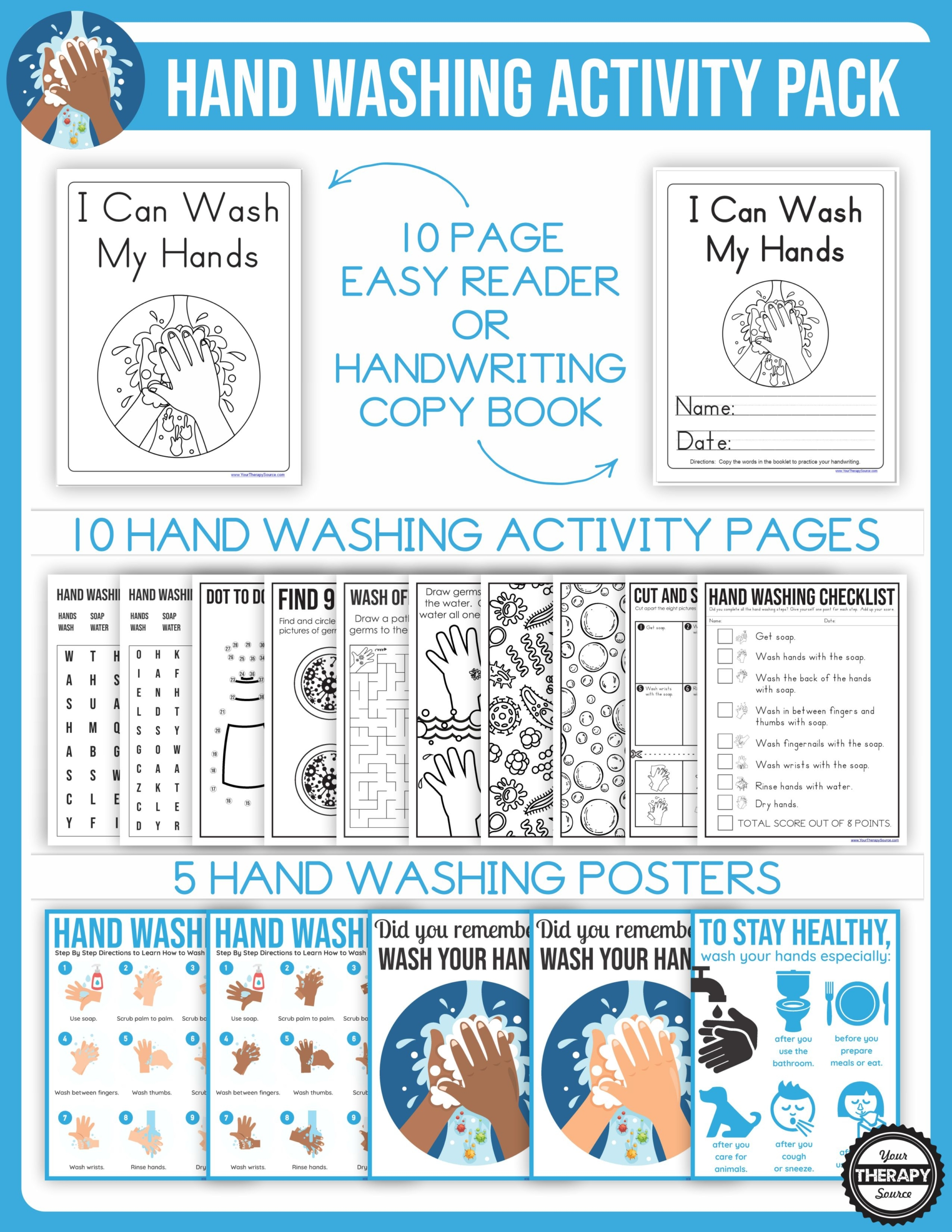 Hand Washing Activities Packet - Your Therapy Source