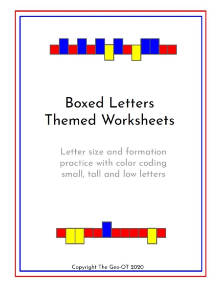 If your students have trouble with letter sizing, this Boxed Letter Worksheets digital PDF packet provides 20 themes to practice letter size and formation.