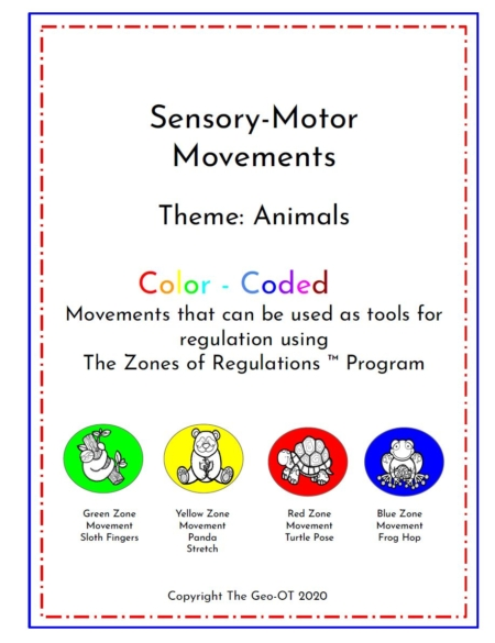 This new Sensory Motor Movement activity pack includes emotional regulation strategies with an animal theme to help your students to succeed.