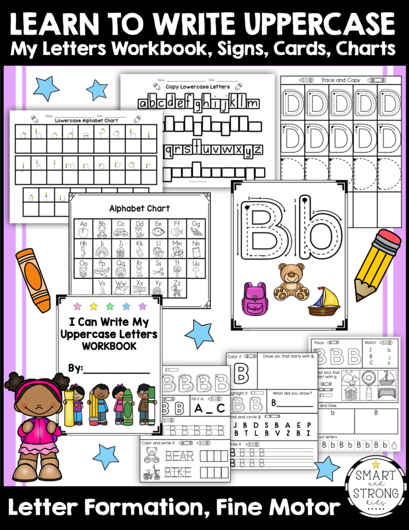 This bundle includes formation guidelines for writing uppercase letters, fun pictures, sight words, simple sentences, formation guidelines, interesting games, and a large variety of content that you won't find with other handwriting worksheets!