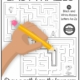 This digital download of 26 Printable Easy Mazes includes 26 simple black and white mazes.  Draw a path for the lowercase letter to get the uppercase letter. Keep letter recognition fun and engaging while you improve visual motor and visual spatial skills.  Completing mazes helps children to work on early handwriting skills, problem solving, and critical thinking!
