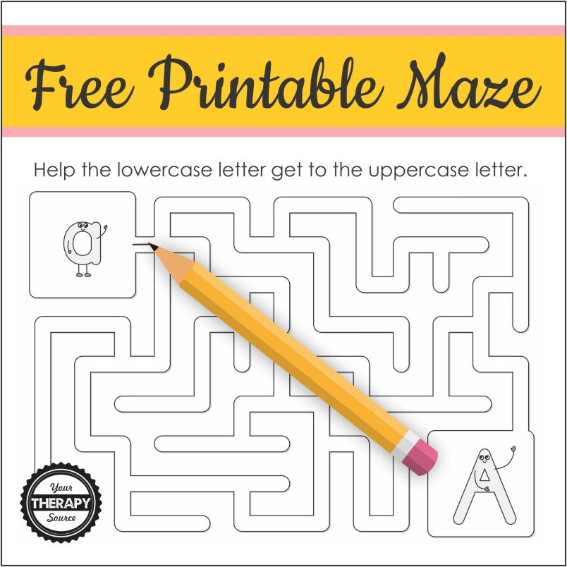 Here is a cute, easy letter A maze for children for a quick, fun activity. You can download it for free
