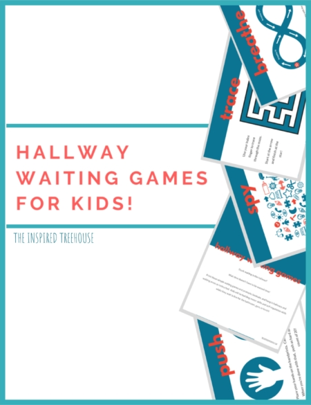 Do you need quiet hallway games for students to participate in sensory motor brain breaks?  This packet of printable Hallway Waiting Games, created by Claire Heffron OTR/L and Lauren Drobnjak PT, is great for easy, no-prep sensory motor breaks to hang up in the hallway.