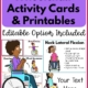 This digital set of Wheelchair Activity Cards and Printables includes 27 different wheelchair activity strengthening cards with descriptions and full sheet printables.