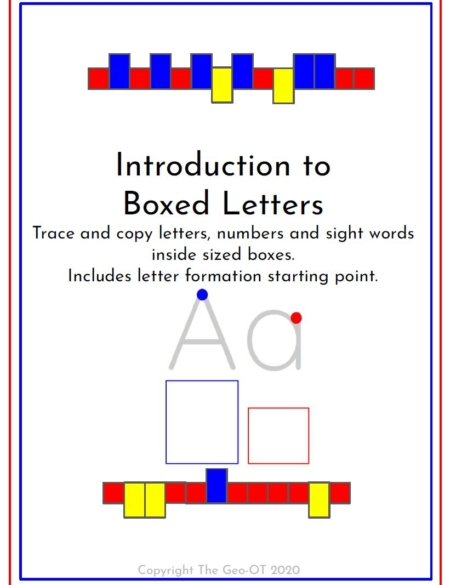 If your students have trouble with letter sizing, this Introduction to Boxed Letter Worksheets digital PDF packet provides worksheets to practice letter, number and sight word size and formation.