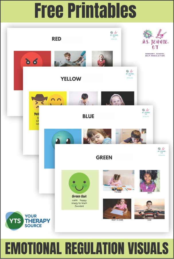 Emotional Regulation Posters Free Printables Your Therapy Source