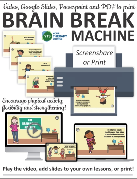 If you are doing in person or distance learning, the Brain Breaks for Kids digital set includes 50 quick, exercise breaks for in the classroom or online learning.