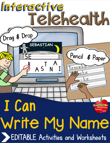 The Name Writing Activities bundle created by school based Occupational Therapist, Thia Triggs, helps students to identify and sequence letters and supports learning to write their name.
