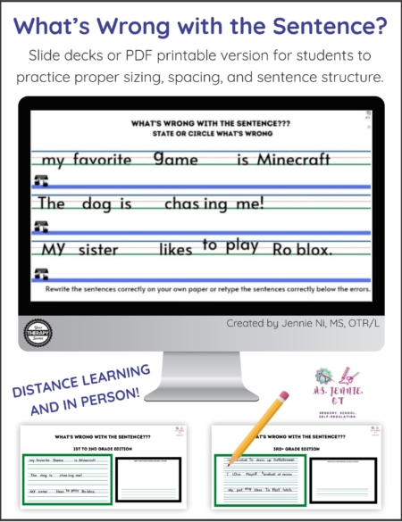What's Wrong with this Sentence is a collection of sentence correction worksheets and a slide deck. It is perfect for distance learning or in person instruction.