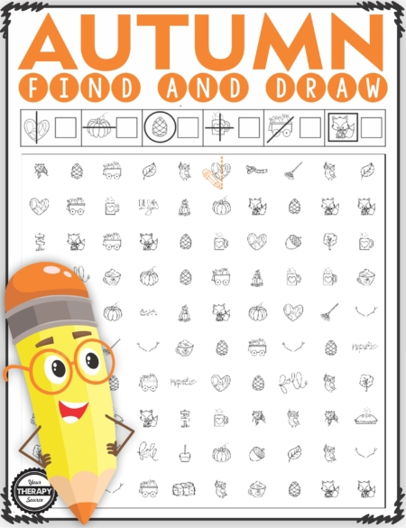 The Autumn Visual Motor Packet includes 10 activities to practice visual discrimination and visual motor skills.