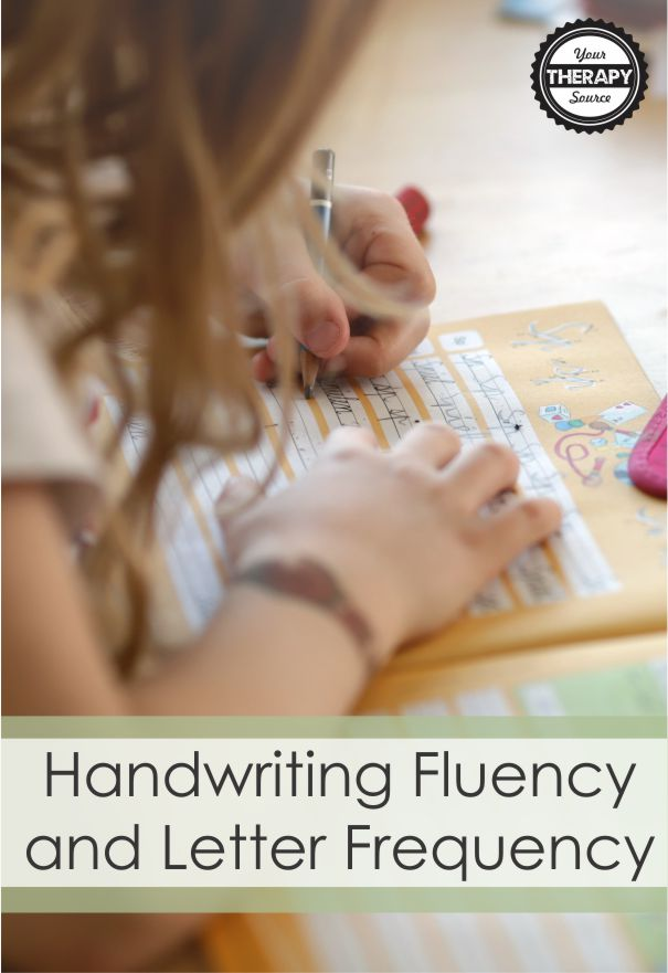 Handwriting fluency is acheived after students have extensive handwriting practice and they learn to write letters automatically. A recent study took a closer look at what is included in handwriting workbooks.