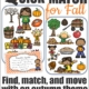 Quick Match for Fall is a super fun, visual perceptual, physically active, card game. Be the first player to spot the ONE matching Fall activity or object on each set of two cards.