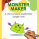 """This Interactive Monster Maker Visual Motor Activity """"Escape Room"""" is perfect for your teletherapy session with individuals working on visual motor skills, following directions, and gross motor movements!"""