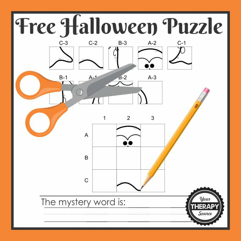 Need a quick Halloween puzzle to print to challenge your student's fine motor skills, visual perceptual skills and handwriting? This one page Halloween Mystery Puzzle will do just that!