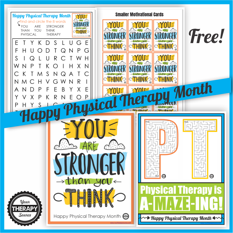 I created a quick, encouraging, freebie today to celebrate Physical Therapy Month 2020. You can download it at the bottom of the post.