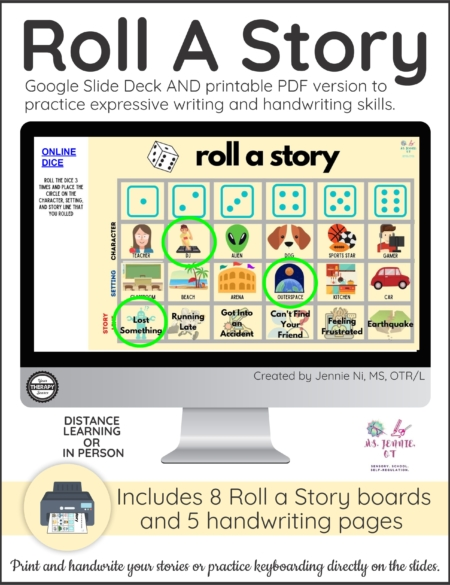 The Roll a Story activity has students rolling a die to mix-and-match story elements to get their stories started right away!