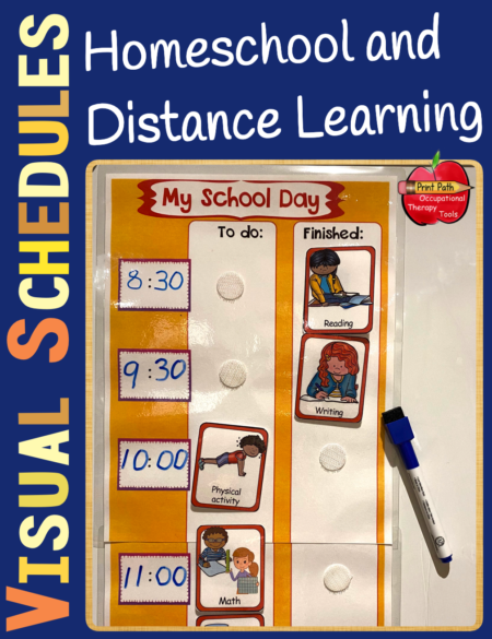 Visual Schedules for Homeschool and Distance Learning EDITABLE includes the tools to help you and your children stay organized and motivated to complete educational tasks.